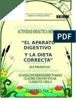 ACT DIDACTICA-EL APARATO DIGESTIVO Y LA DIETA CORRECTA