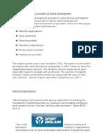 Key Providers of Sports Development