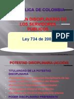 Presentación Ley 734-02 Codigo Unico Disciplinario