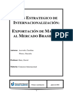 Ejemplo de Trabajo Sobre Plan Estrategico de Internacionalizacion
