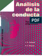 Skinner y Holland (1997) -Análisis de La Conducta-texto Programado
