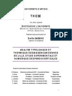 Sassine E. Analyse Typologique & Thermique Des Maison Anciennes