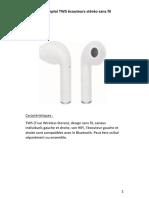 TWS écouteurs sans fil