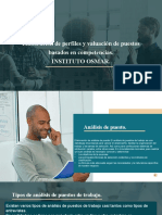 Elaboración de perfiles y valuación de puestos basados en competencias