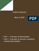 Haemoptysis