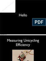 Unicycling Efficiency Measuring Device