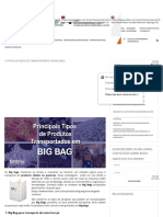 10 Tipos de produtos transportados por Big Bags - Fábrica de Big Bag para produtos perigosos - EmbTec