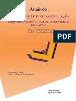 ANAIS IV JORNADA LITERATURA E EDUCAÇÃO