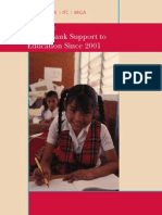World Bank Support to Education since 2001