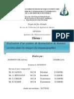 Réalisation d'Un Système de Dissimulation de Données Secrètes Dans Les Images (La Stéganographie).