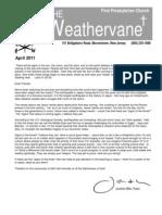 April 2011 Weathervane