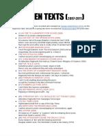 FIFTEEN TEXTS (2007-2011)