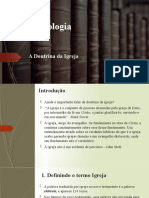 Ecelesiologia - a doutrina da igreja