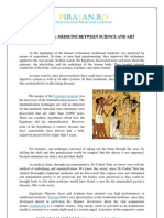 Traditional Medicine Between Science and Art