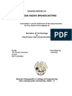 Training Report- radio broadcasting and captive earth station ( communication systems)
