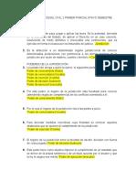 Cuestionario Procesal Civil 2 Primer Parcial 8tavo Semestre
