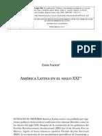 Emir Sader - América Latina en el siglo XXI