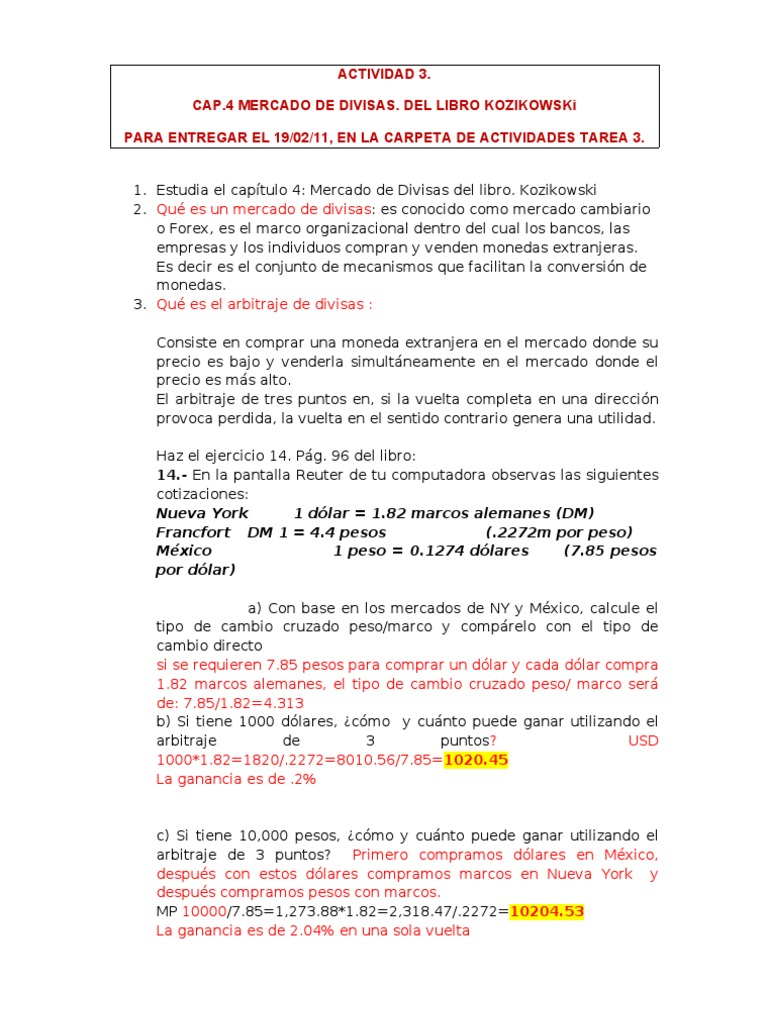 ACTIVIDAD 3_MERCADO DE DIVISAS