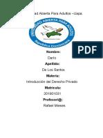 Tarea VIII de Imtroduccion Al Derecho Privado.