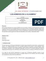 Los números en la Alhambra