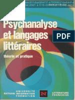 Le Galliot, Jean - Psychanalyse et langages litteraires