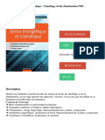 Génie énergétique et climatique - Chauffage, froid, climatisation PDF - Télécharger, Lire