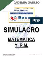 SIMULACRO MATEMATICA-2 PRONABEC rptas