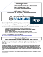 DEP Green Infrastructure Community Discussion flyer