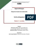 Guide Pédagogique Apprentilangue MS_Thème 2_La Météo