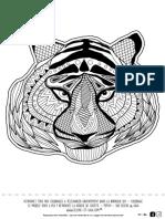 Coloriage Tigre Mandala Gratuit Enfant Adulte Telecharger Animaux Animal Totem Zen Motif