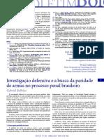 Boletim305 (Investigação Defensiva)