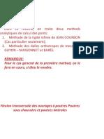 Méthodes de J.COURBON et GUYON-MASSONNET(1)