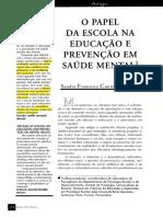 Material de estudos fratelli (Escola na educação e prevenção em saúde mental)