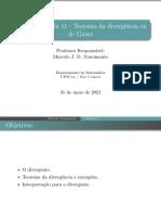 Aula 11 - Teorema da divergência