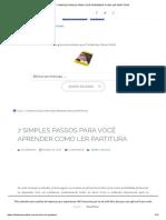 7 SIMPLES PASSOS PARA VOCÊ APRENDER COMO LER PARTITURA