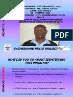 PROJECTS Presentation Response Fatherhood Regis Manjoro
