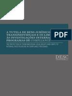 A tutela de bens jurídicos transindividuais e os limites às investigações internas dos programas de Compliance - DESC FACAMP