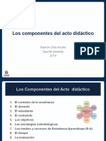 Los Componentes Del Acto Didactico