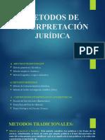 METODOS DE INTERPRETACIÓN JURÍDICA
