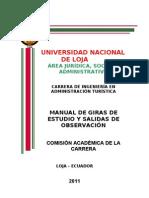 MANUAL DE GIRAS DE ESTUDIO Y SALIDAS DE OBSERVACIÓN