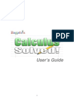 manual calculus solved