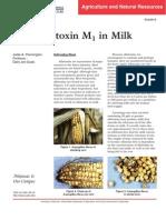 aflatoksin M1 u mleku