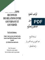 Relation Entre Gouverneur Et Gouvernés