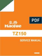 Haojue Chopper Road 150 Manual de serviços (PTBR) tz150