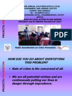 Public ion on Crime Prevention - Victim Support