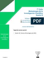 Metodología de la Investigación Científica - Sesión 9