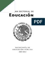 2   Programa Sectorial de Educacion 2007-2012