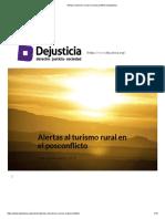 Alertas Al Turismo Rural en El Posconflicto _ Dejusticia