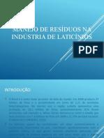 Manejo de residuos na industria de laticinios (1)