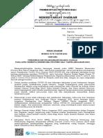 SE Pengendalian Pelaksanaan Belanja Daerah Pada APBD Semesta Berencana Provinsi BaliTA 2021